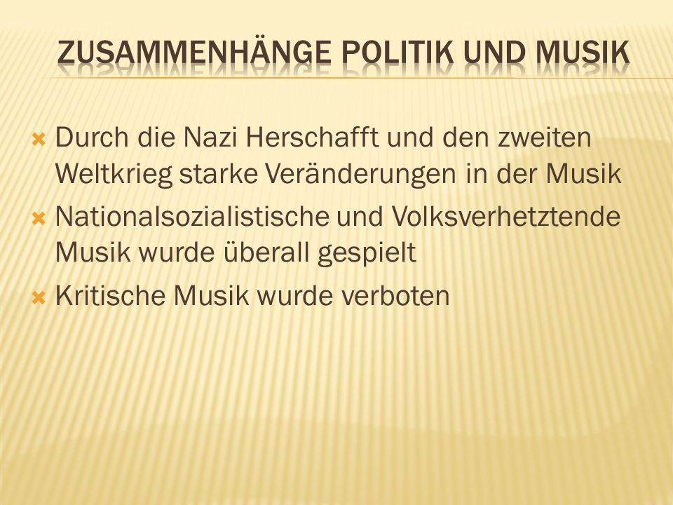 Zusammenhänge Politik und Musik