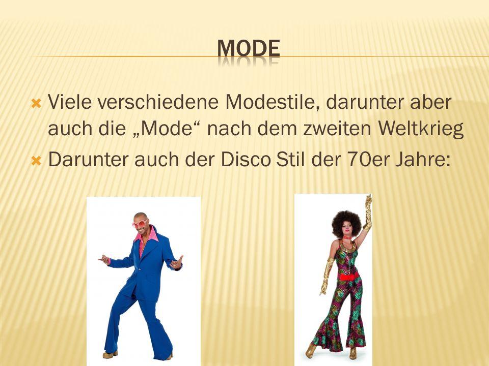 """ModeViele verschiedene Modestile, darunter aber auch die """"Mode nach dem zweiten Weltkrieg."""