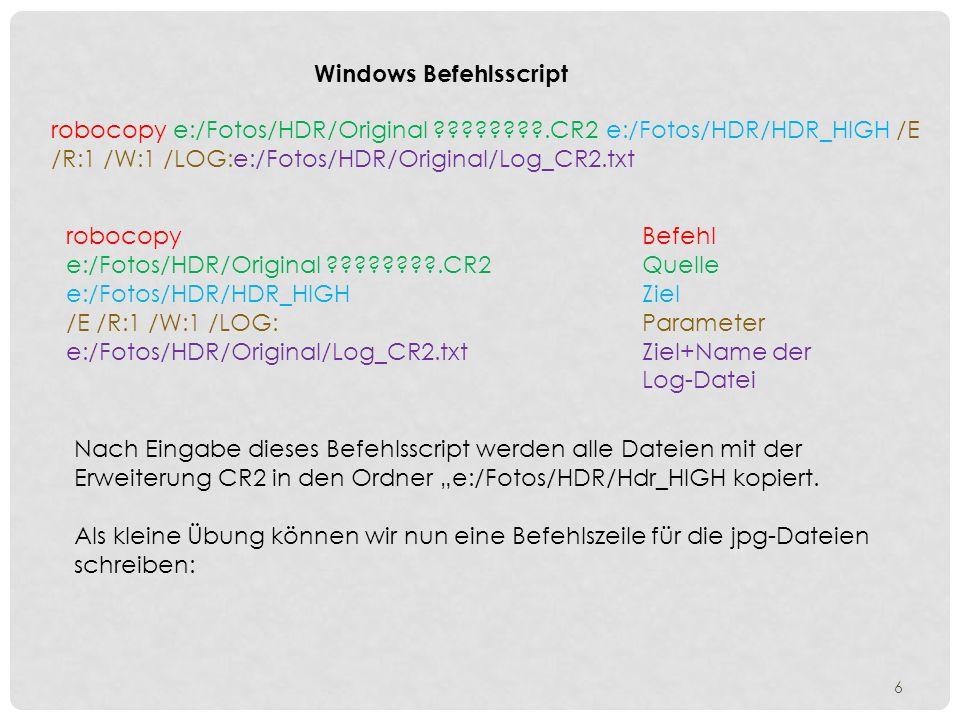 Windows Befehlsscript