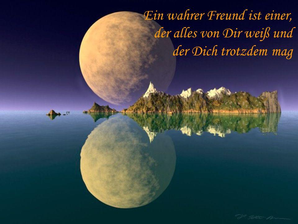 Ein wahrer Freund ist einer, der alles von Dir weiß und der Dich trotzdem mag