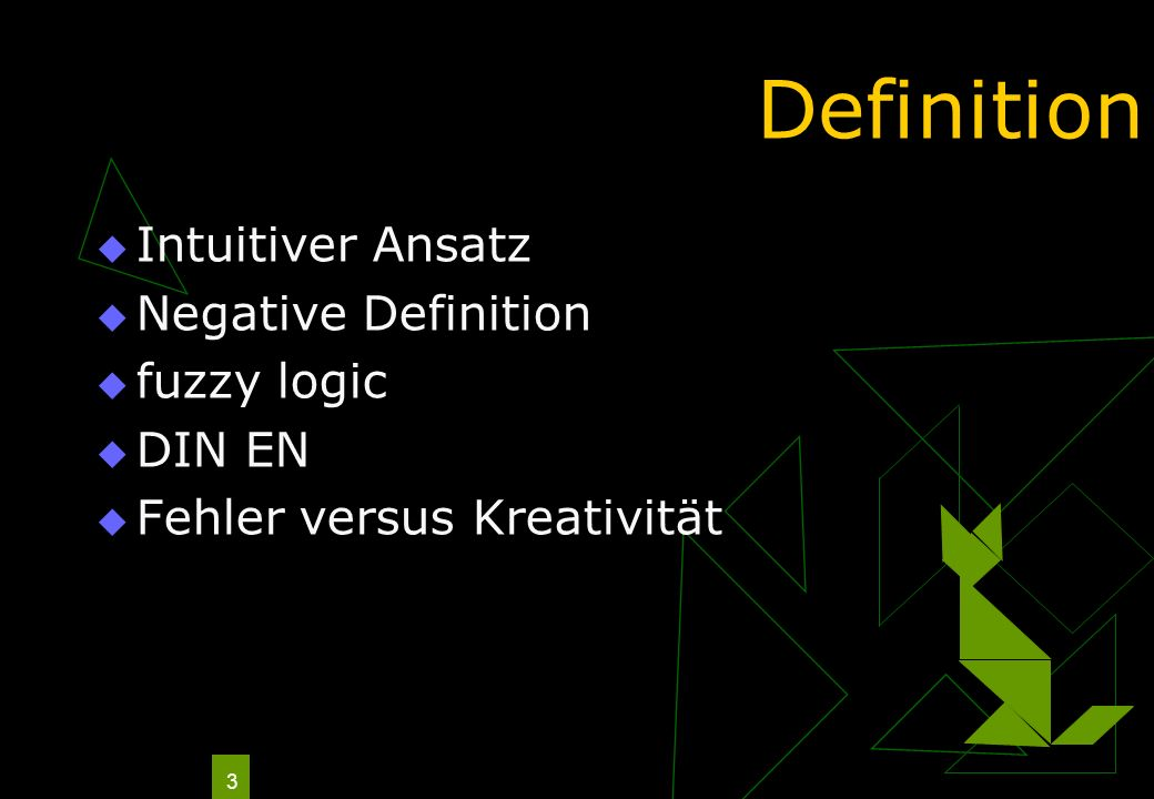 Definition Intuitiver Ansatz Negative Definition fuzzy logic DIN EN