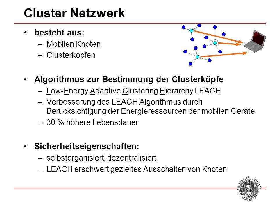Cluster Netzwerk besteht aus: