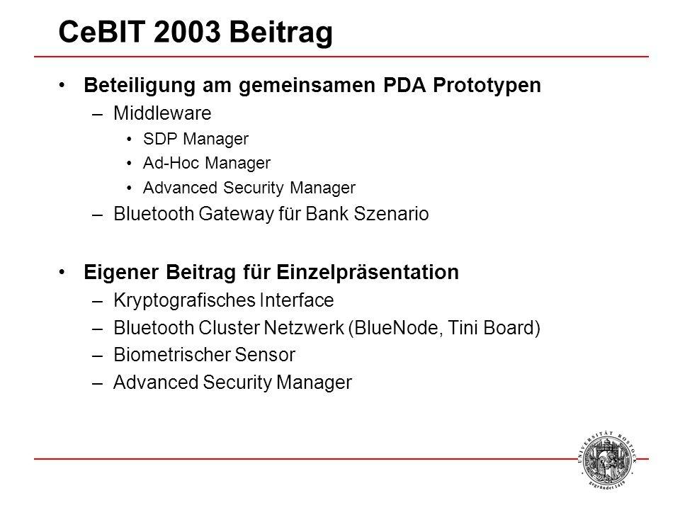 CeBIT 2003 Beitrag Beteiligung am gemeinsamen PDA Prototypen
