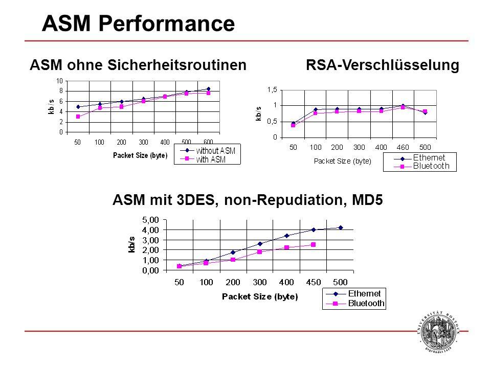 ASM Performance ASM ohne Sicherheitsroutinen RSA-Verschlüsselung