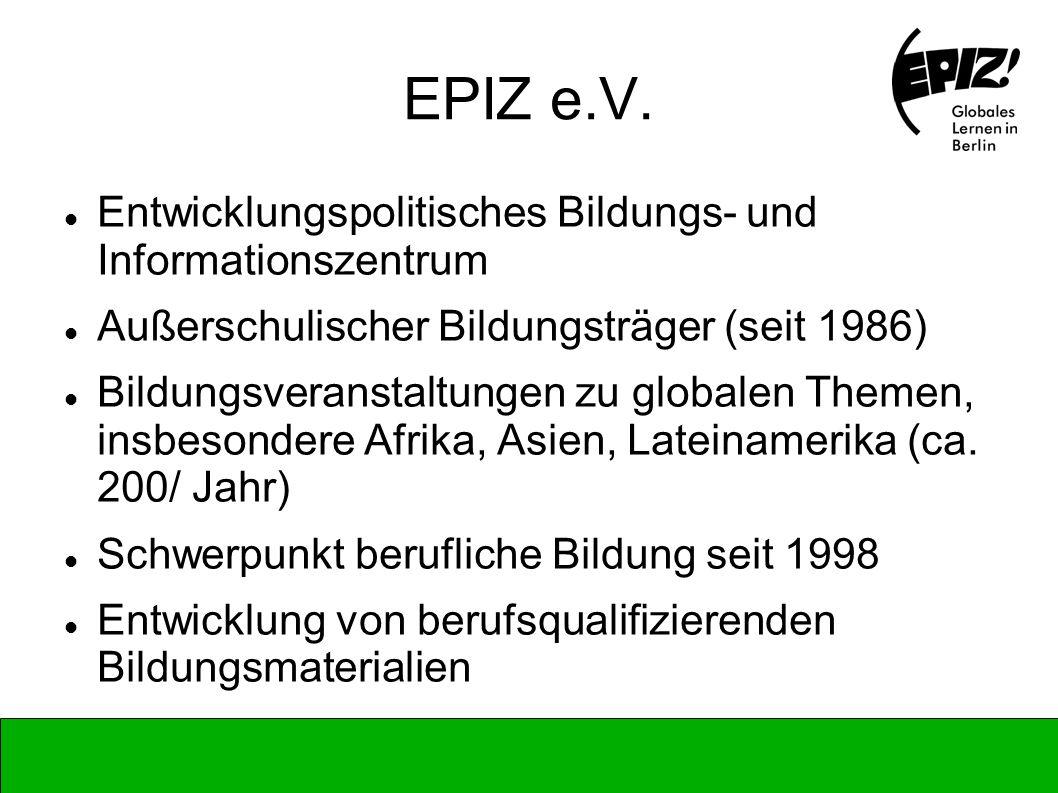 EPIZ e.V. Entwicklungspolitisches Bildungs- und Informationszentrum