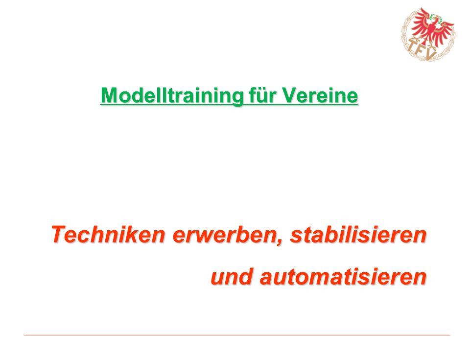 Techniken erwerben, stabilisieren und automatisieren