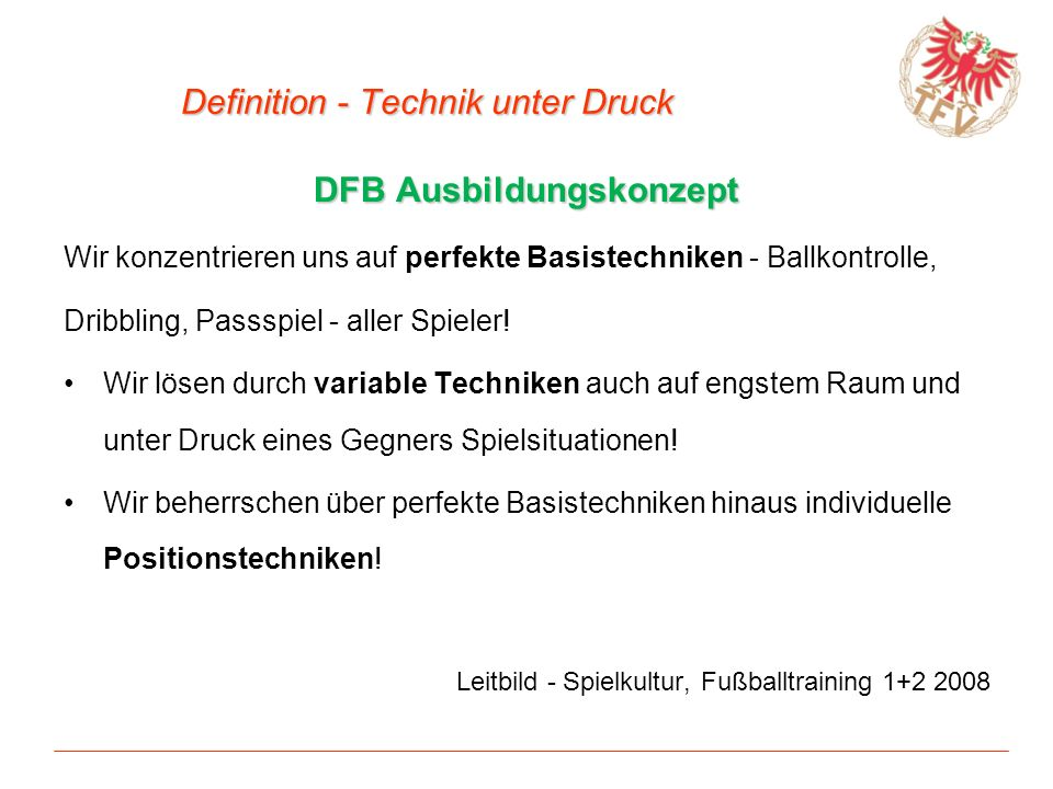 Definition - Technik unter Druck