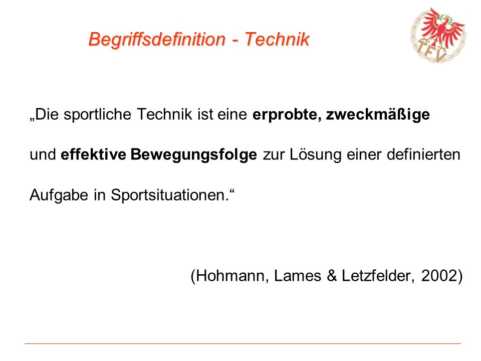 Begriffsdefinition - Technik