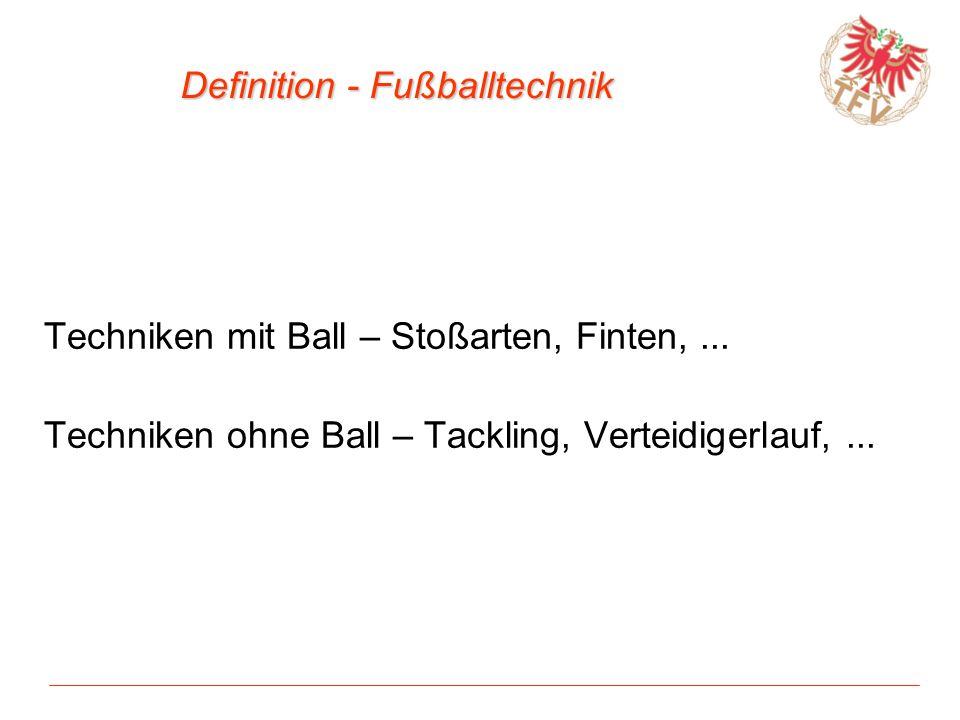 Definition - Fußballtechnik