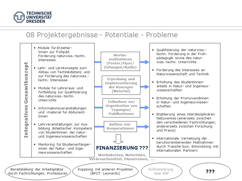 08 Projektergebnisse - Potentiale - Probleme