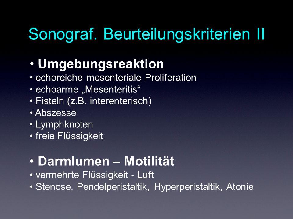 Sonograf. Beurteilungskriterien II