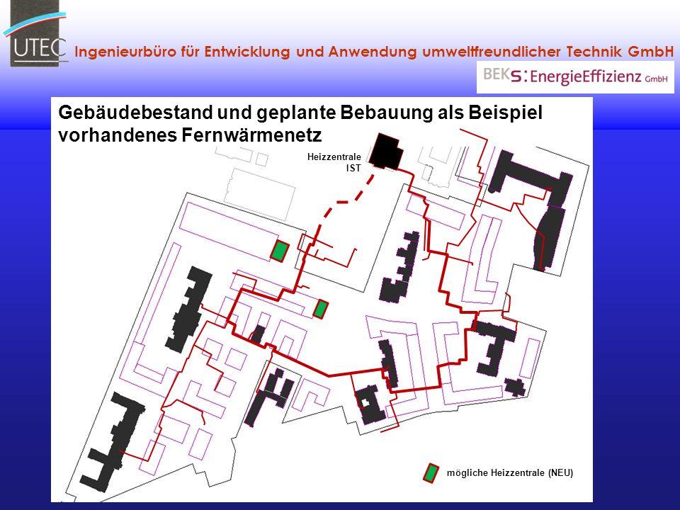 Gebäudebestand und geplante Bebauung als Beispiel