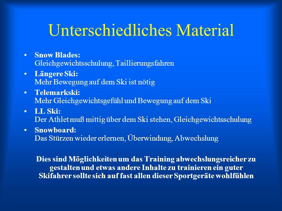 Unterschiedliches Material