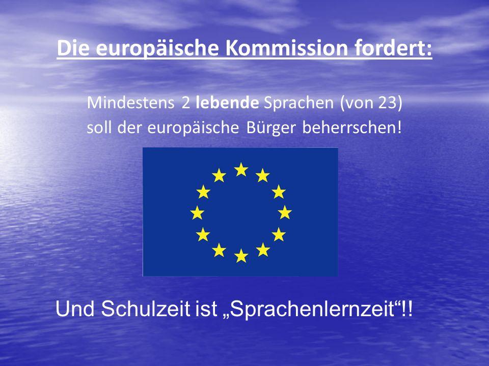 Die europäische Kommission fordert: