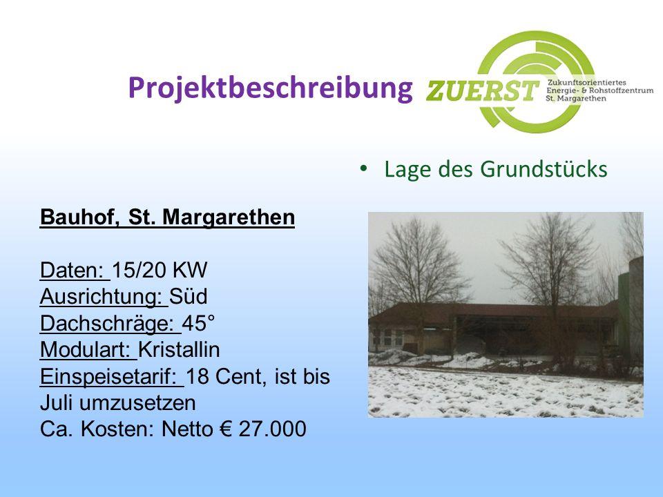 Projektbeschreibung Lage des Grundstücks Bauhof, St. Margarethen