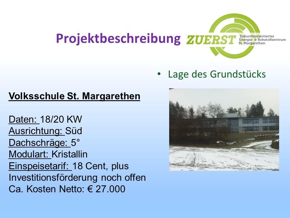 Projektbeschreibung Lage des Grundstücks Volksschule St. Margarethen