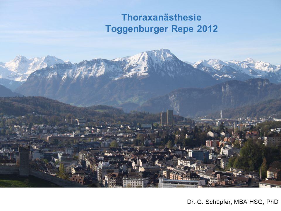 Thoraxanästhesie Toggenburger Repe 2012