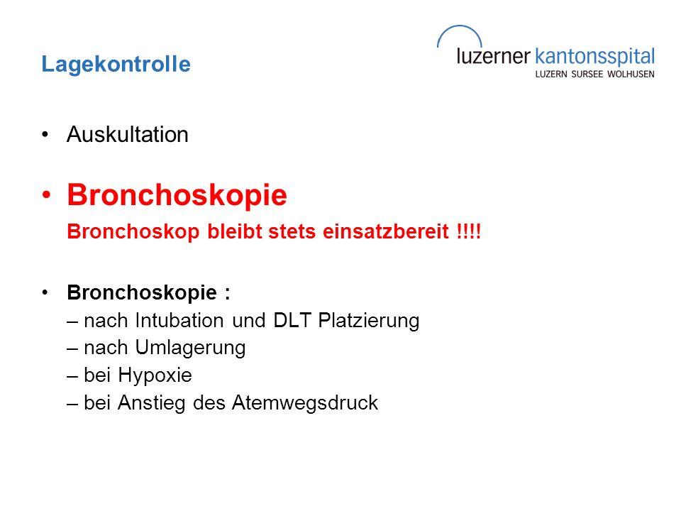Bronchoskopie Bronchoskop bleibt stets einsatzbereit !!!!