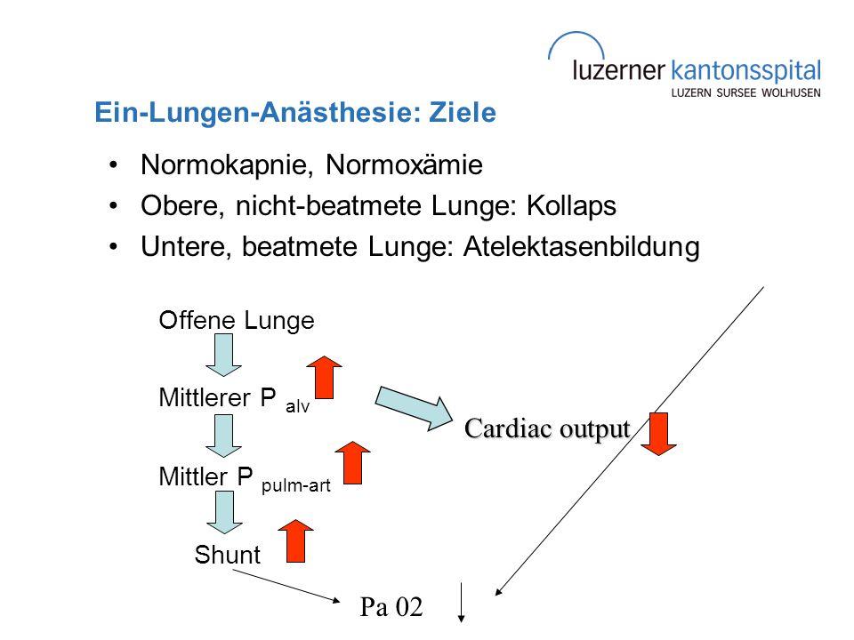 Ein-Lungen-Anästhesie: Ziele