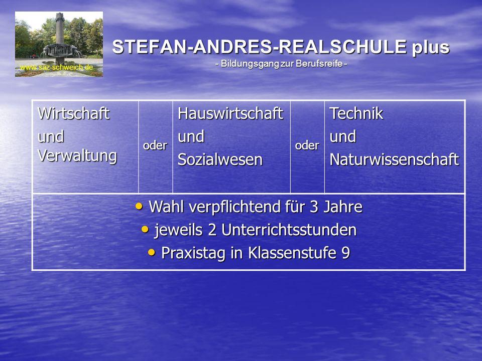 STEFAN-ANDRES-REALSCHULE plus - Bildungsgang zur Berufsreife -