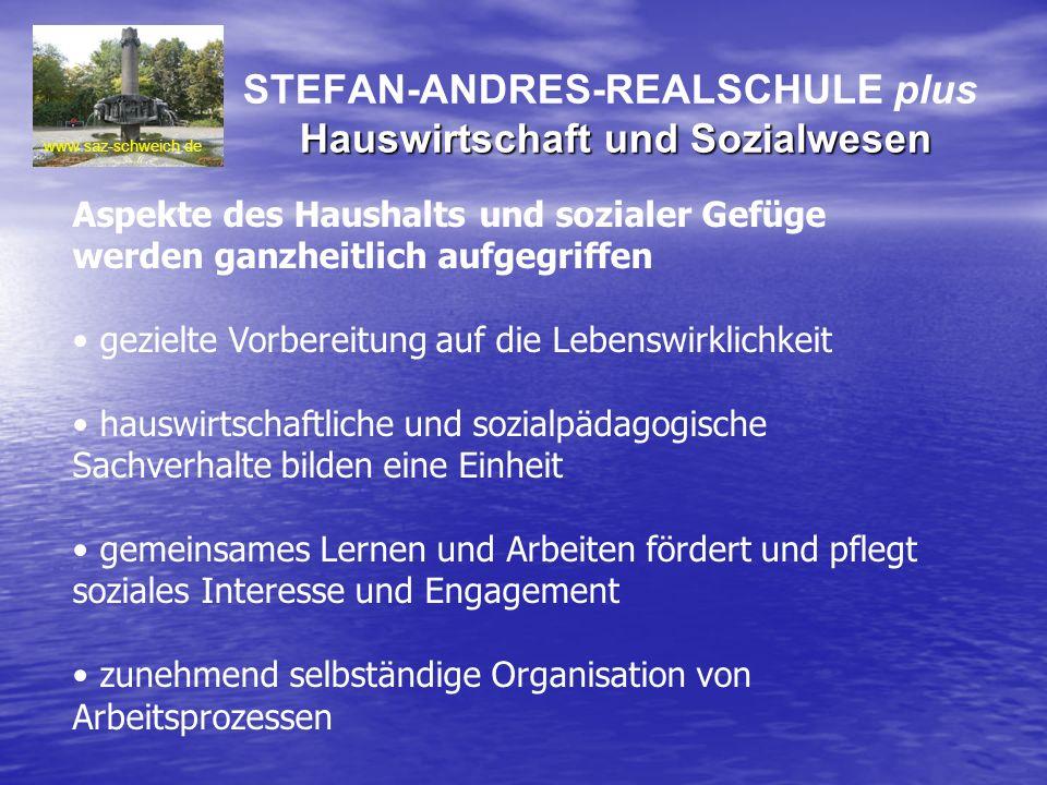 STEFAN-ANDRES-REALSCHULE plus Hauswirtschaft und Sozialwesen
