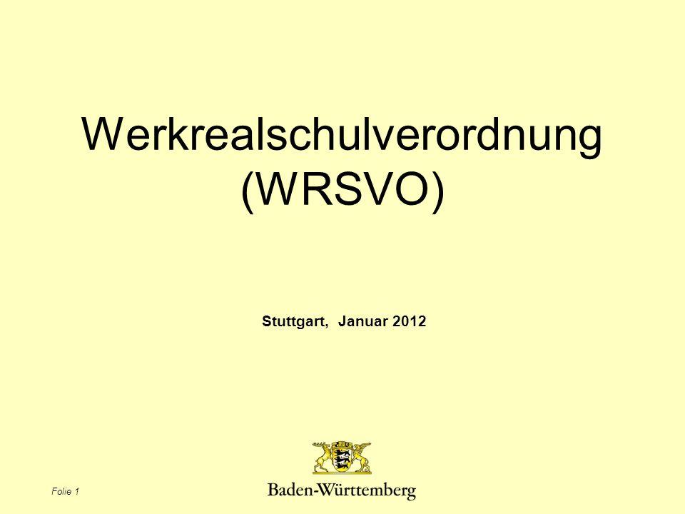 Werkrealschulverordnung (WRSVO)