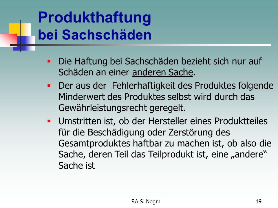 Produkthaftung bei Sachschäden