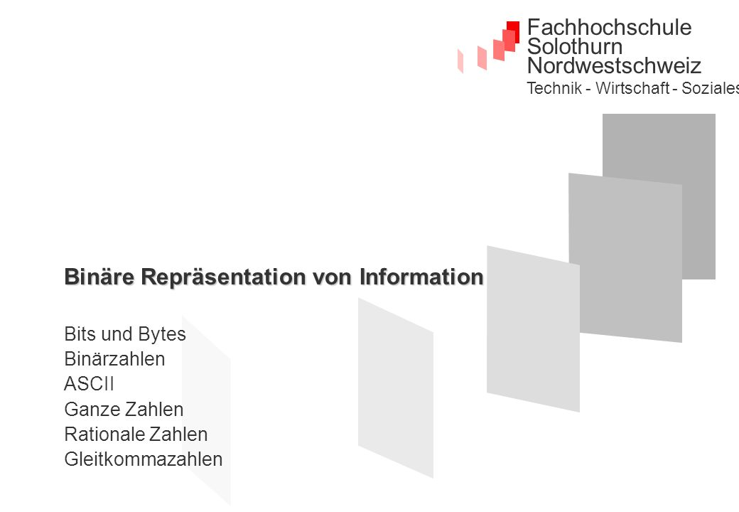 Binäre Repräsentation von Information