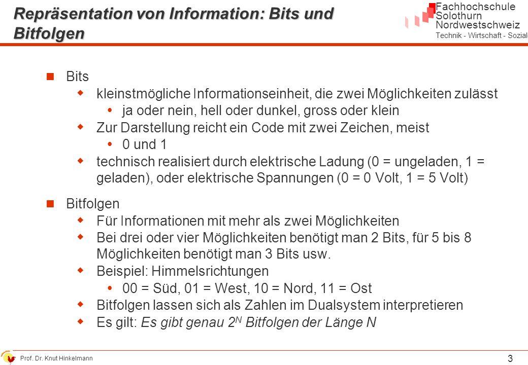 Repräsentation von Information: Bits und Bitfolgen