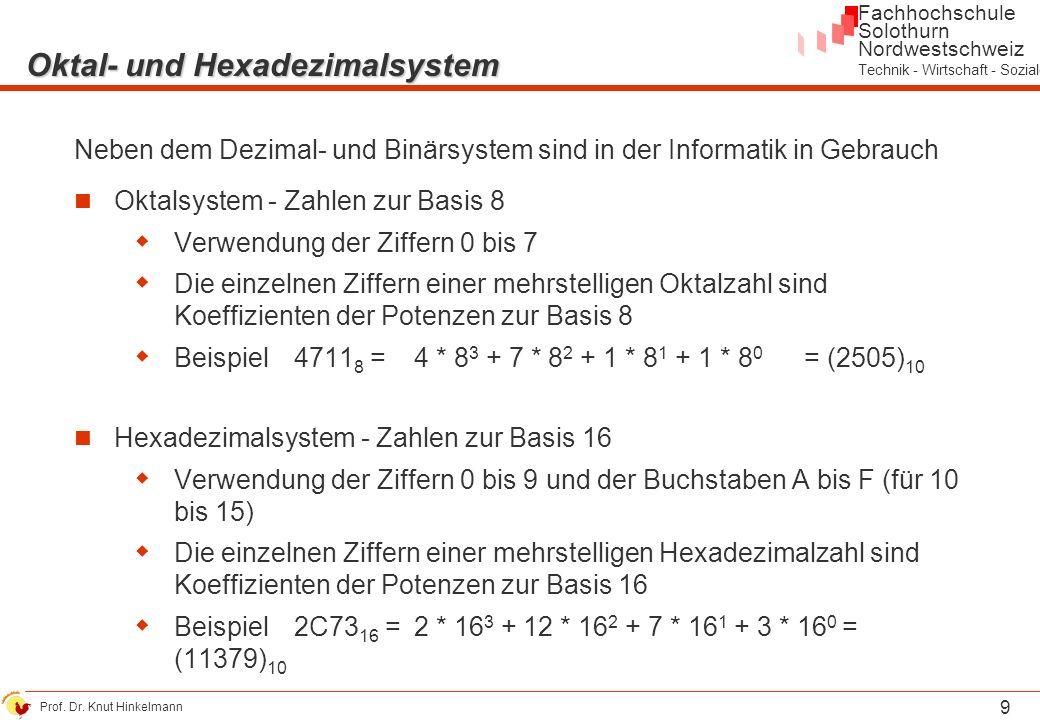 Oktal- und Hexadezimalsystem