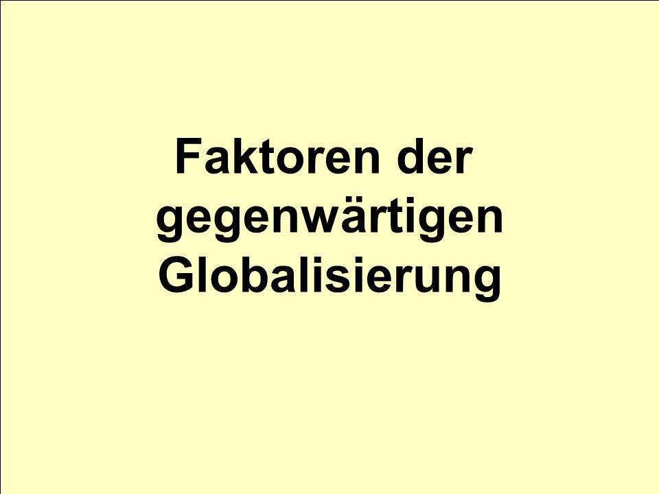 Faktoren der gegenwärtigen Globalisierung