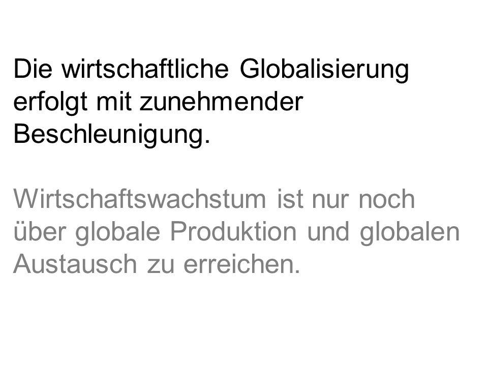 Die wirtschaftliche Globalisierung