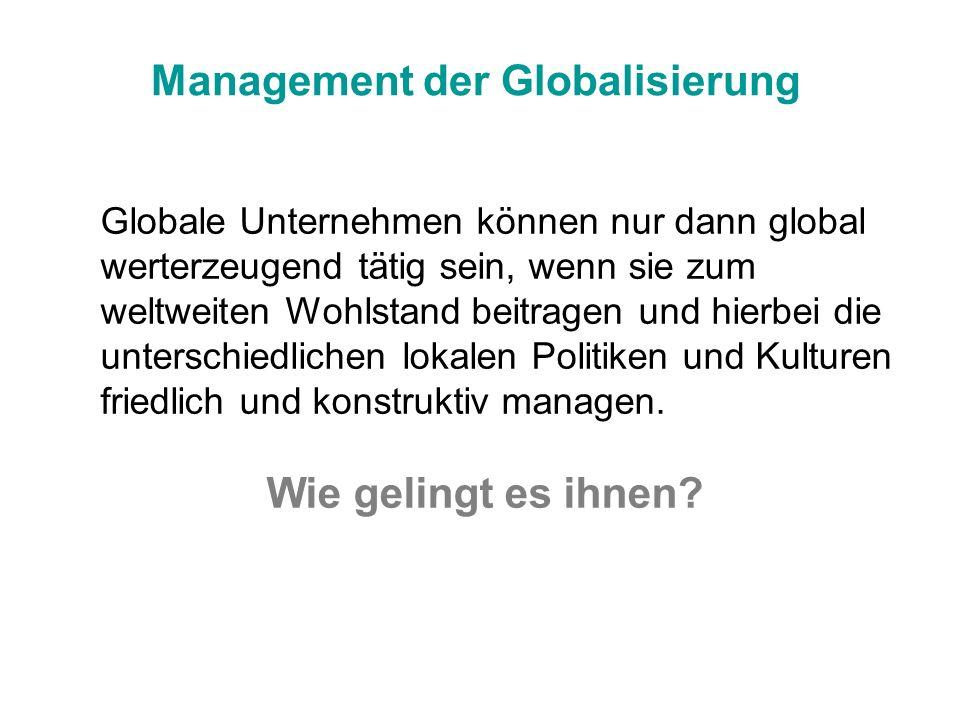 Management der Globalisierung