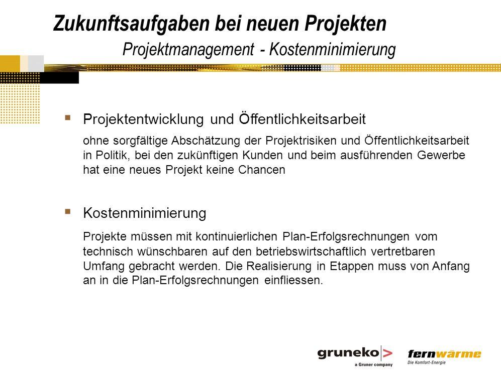 Zukunftsaufgaben bei neuen Projekten