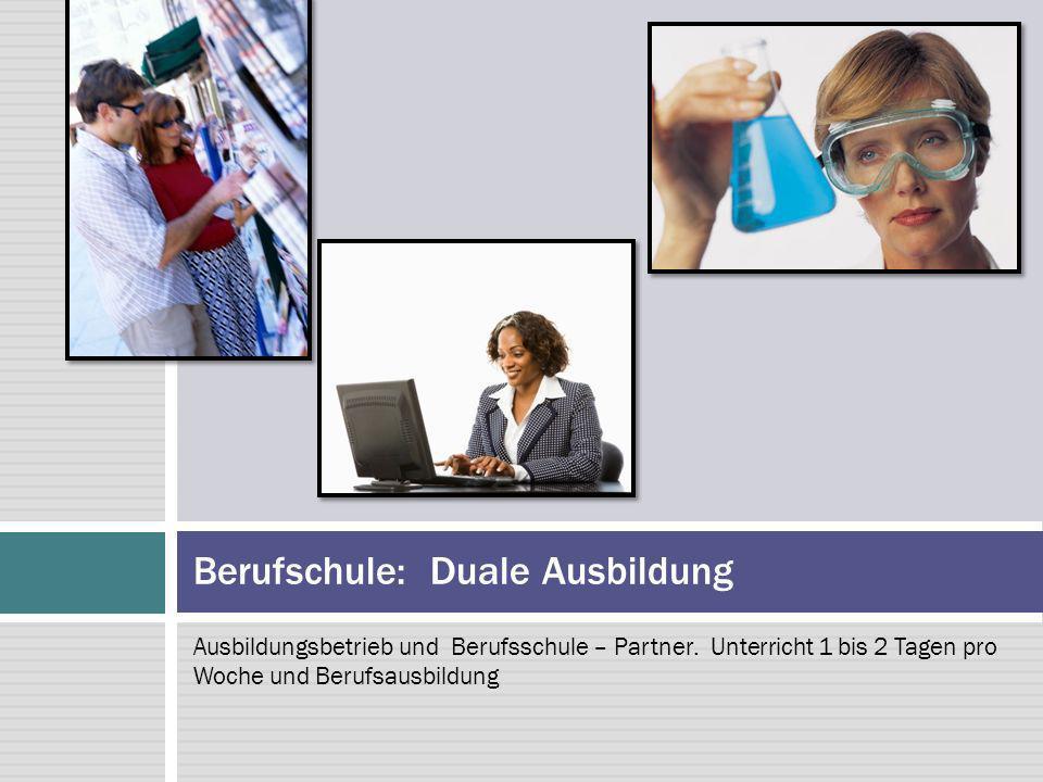 Berufschule: Duale Ausbildung