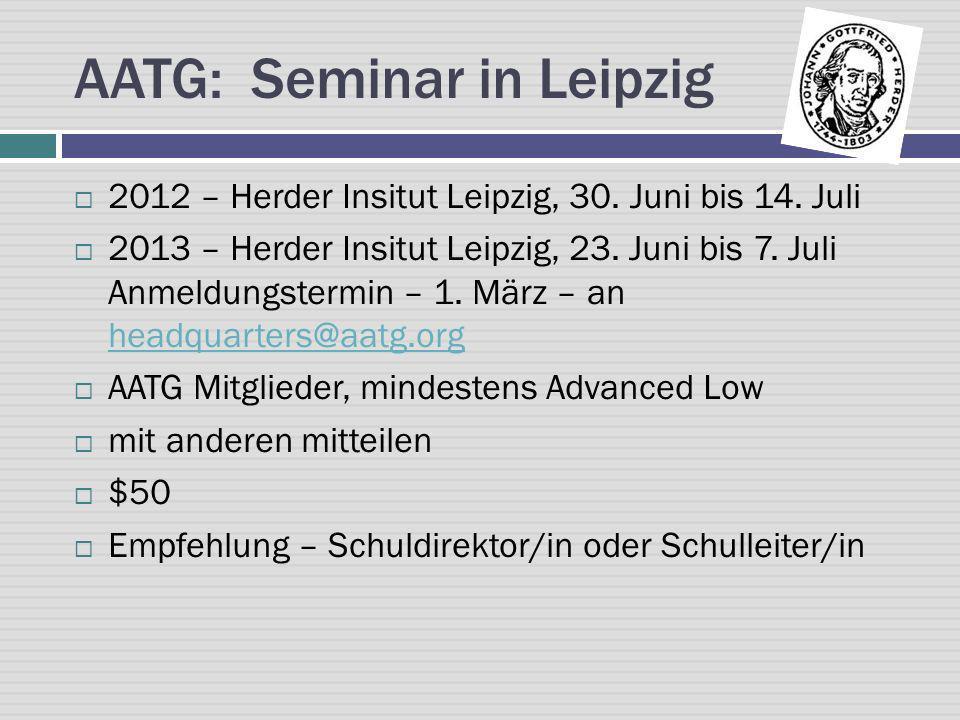 AATG: Seminar in Leipzig