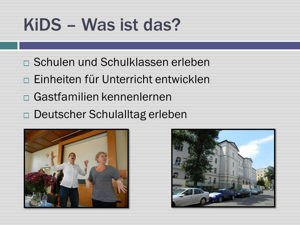 KiDS – Was ist das Schulen und Schulklassen erleben