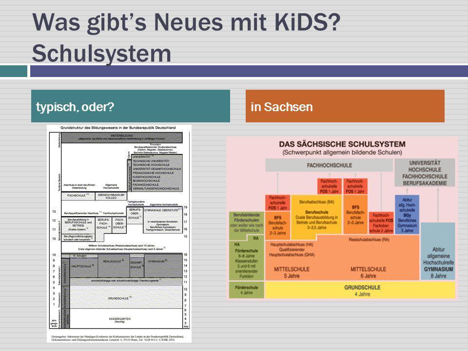 Was gibt's Neues mit KiDS Schulsystem