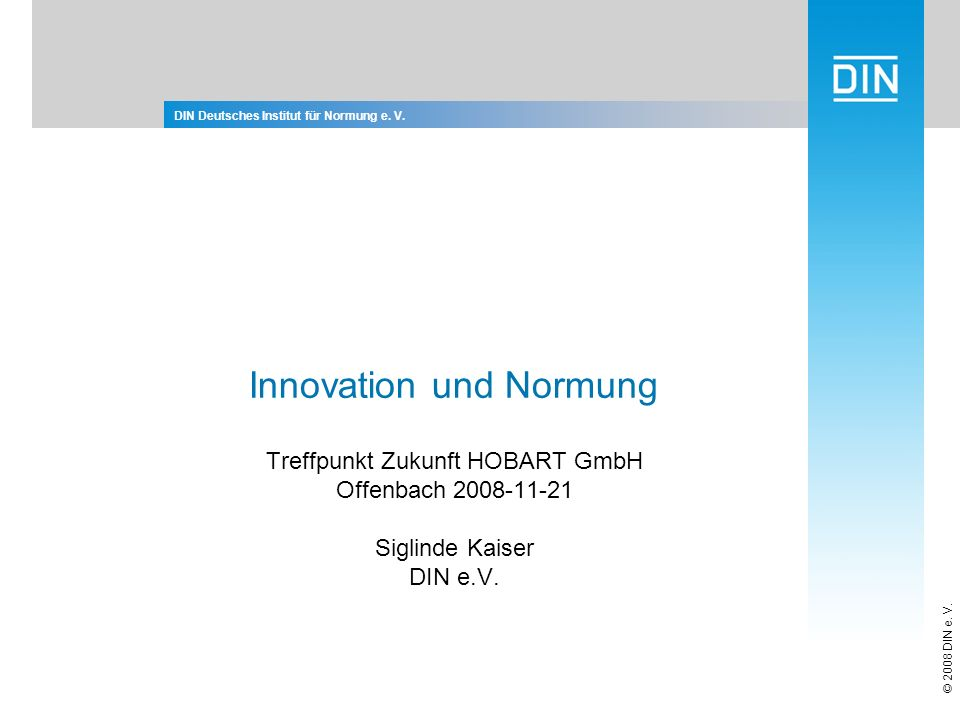 Innovation und Normung
