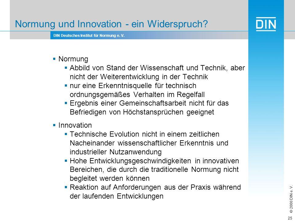 Normung und Innovation - ein Widerspruch