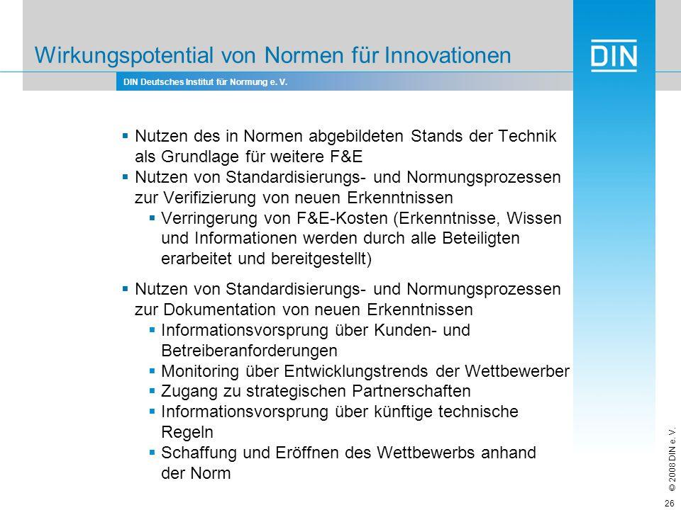 Wirkungspotential von Normen für Innovationen