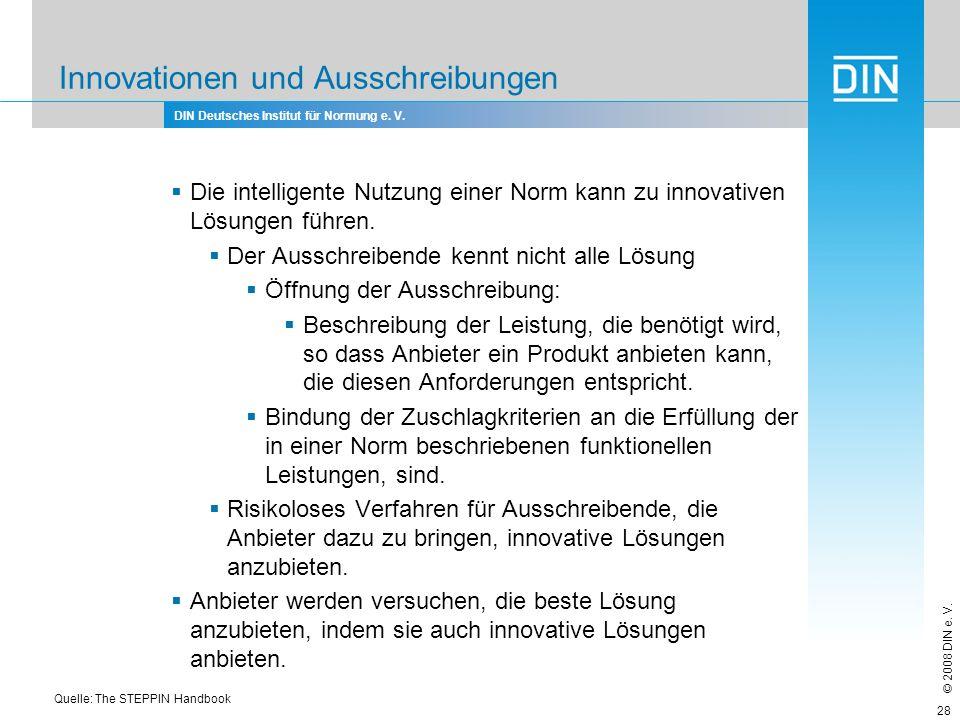 Innovationen und Ausschreibungen