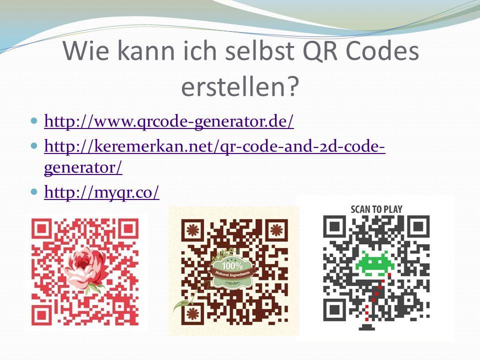 Wie kann ich selbst QR Codes erstellen