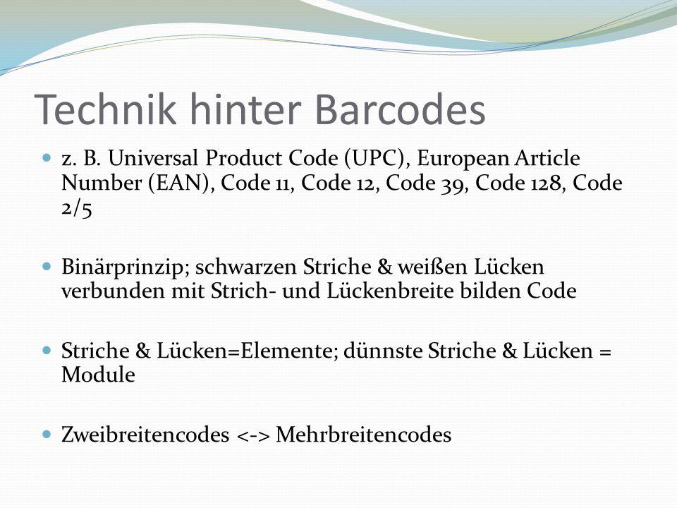 Technik hinter Barcodes