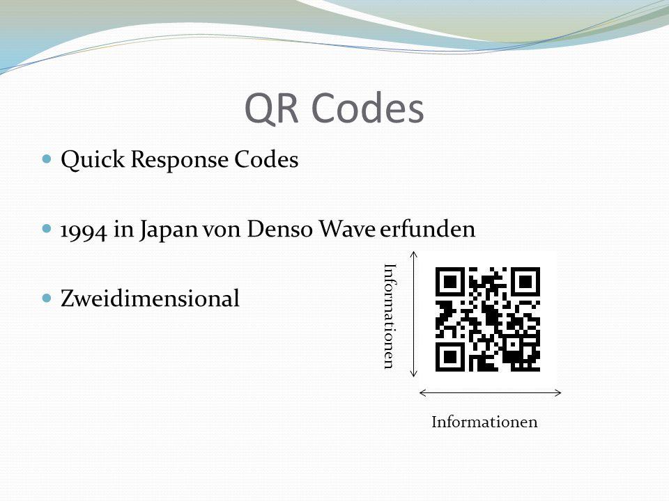 QR Codes Quick Response Codes 1994 in Japan von Denso Wave erfunden