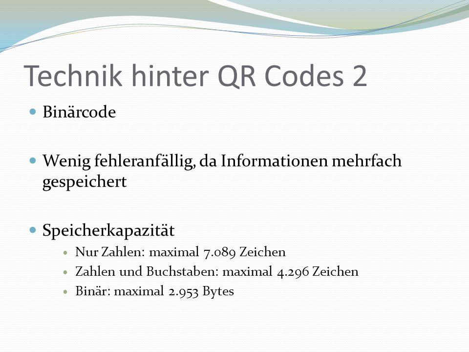Technik hinter QR Codes 2