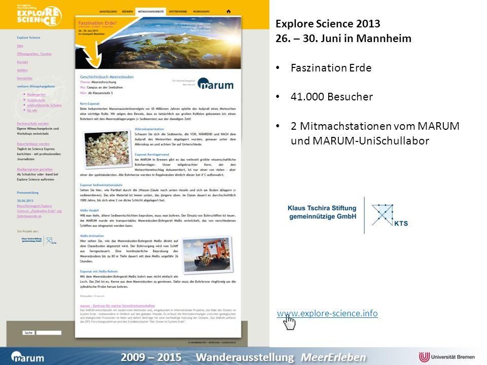 2 Mitmachstationen vom MARUM und MARUM-UniSchullabor