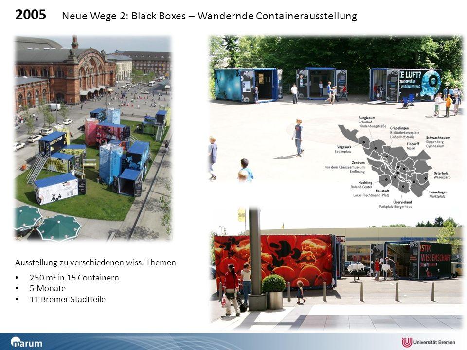 2005 Neue Wege 2: Black Boxes – Wandernde Containerausstellung