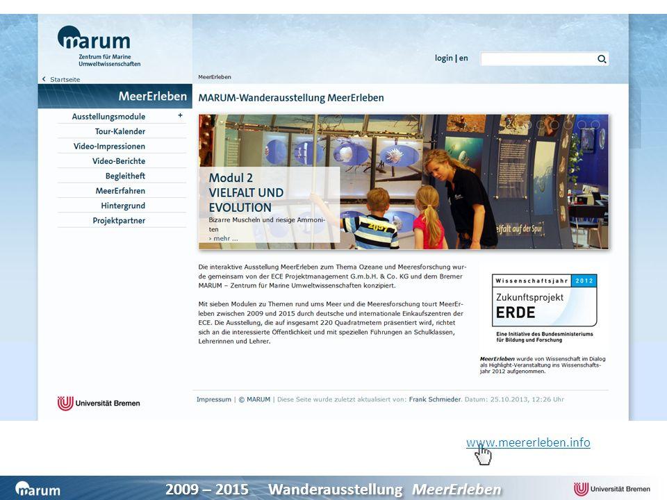 Begleitbroschüre und Website mit weiterführenden Infos und Links zu Meeresforschungsinstituten, Museen, Webseiten und Büchern.