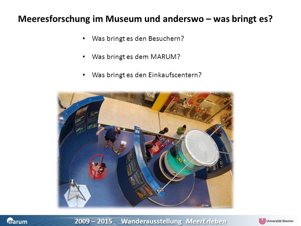 Meeresforschung im Museum und anderswo – was bringt es